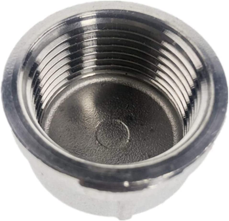 Durable Cap Female Stainless Steel SS304 Threaded Pipe Fittings BSP Thread Specification : DN25