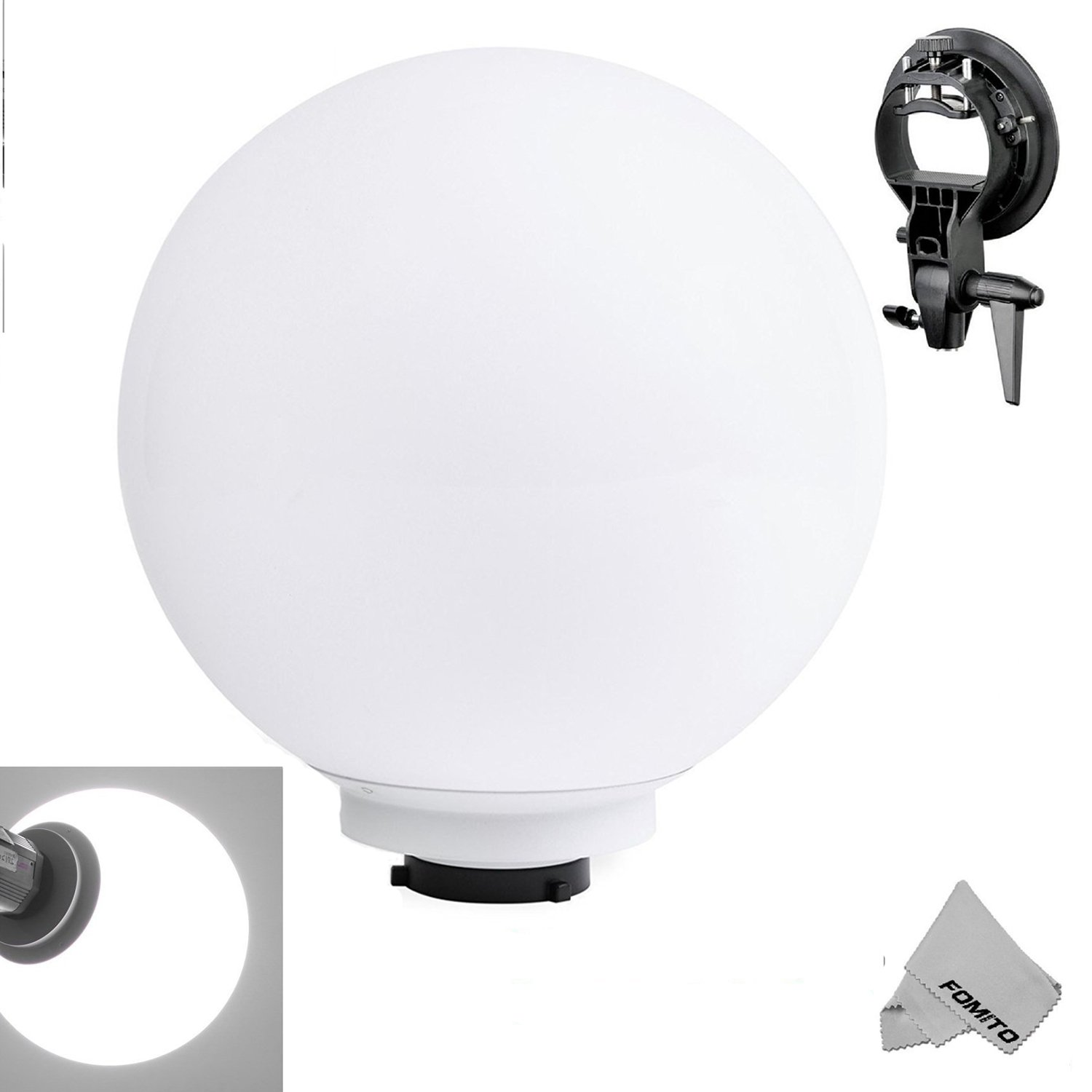 Fomito 40cm Spherical Flash Diffuser Ball with Bowens S-type Mount