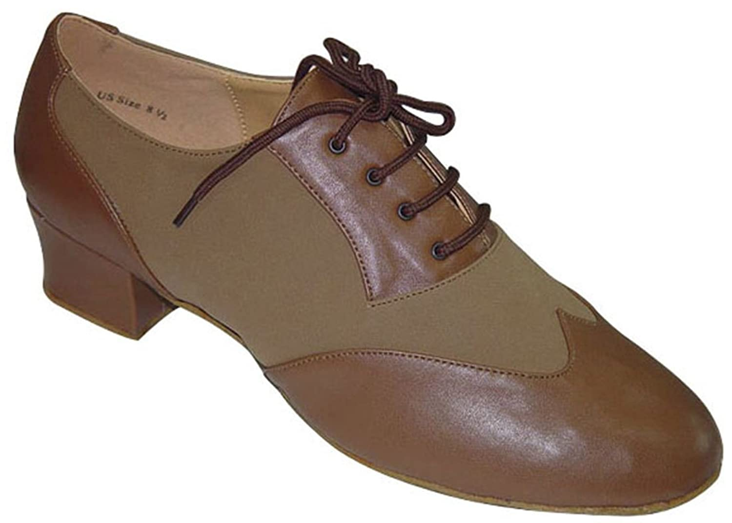 Retro Style Dance Shoes Mens Ballroom Salsa Wedding Competition Dance Shoes The Julio 1.6 Heel - Tan $74.99 AT vintagedancer.com