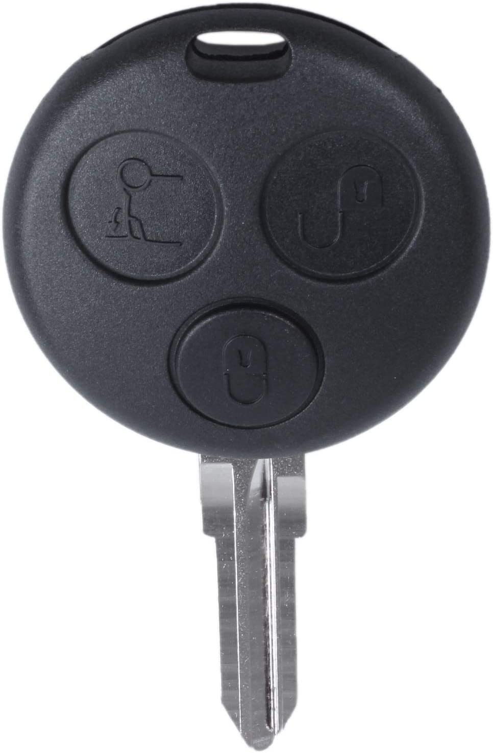 RETYLY 3 Button Car 433MHz Remote Key Fob Blade for Smart Fortwo Forfour City Roadster