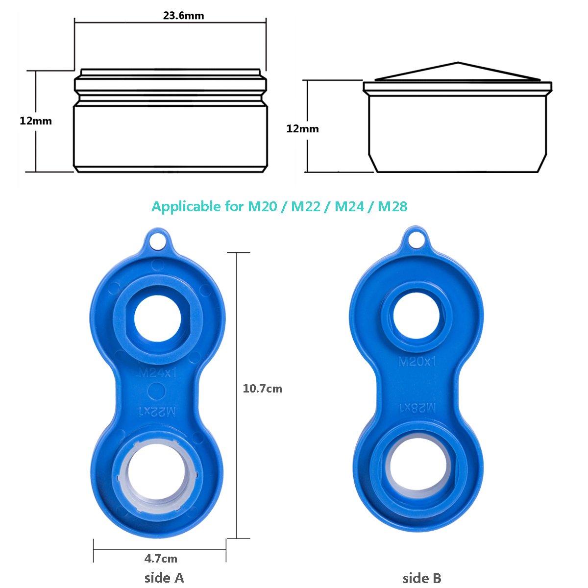 ahorro de agua Aireador Atomizador x 15 con la llave ingresa M24 EFANTUR Filtro de Grifo Aireador Atomizador Pulverizador Economizador de boquillas 24 mm para cocina