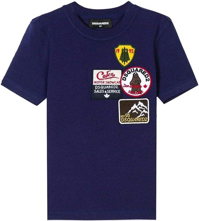 Dsquared2 Kids Insignia Camiseta Azul Blue 8 Years: Amazon.es: Ropa y accesorios