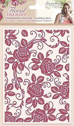 Rambling Rose  Embossing Folder  Sara Davies Signature Collection