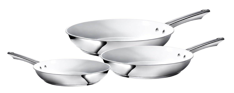 Karcher CeramicLine - Juego de Tres sartenes de inducción con Superficie de cerámica, 20 centímetros, 24 centímetros y 28 centímetros: Amazon.es: Hogar
