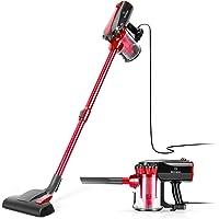 MOOSOO Vacuum Cleaner Stick Vacuum Corded with HEPA Filter 17Kpa Powerful Suction 2 in 1 Handheld Vacuum D600