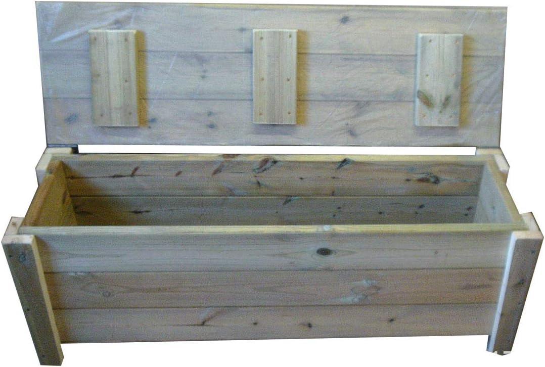 H D Smileswoodcraft Wooden Garden Storage Bench Chunky Storage Bench Bespoke Benches 120cm W x 50cm x 40cm