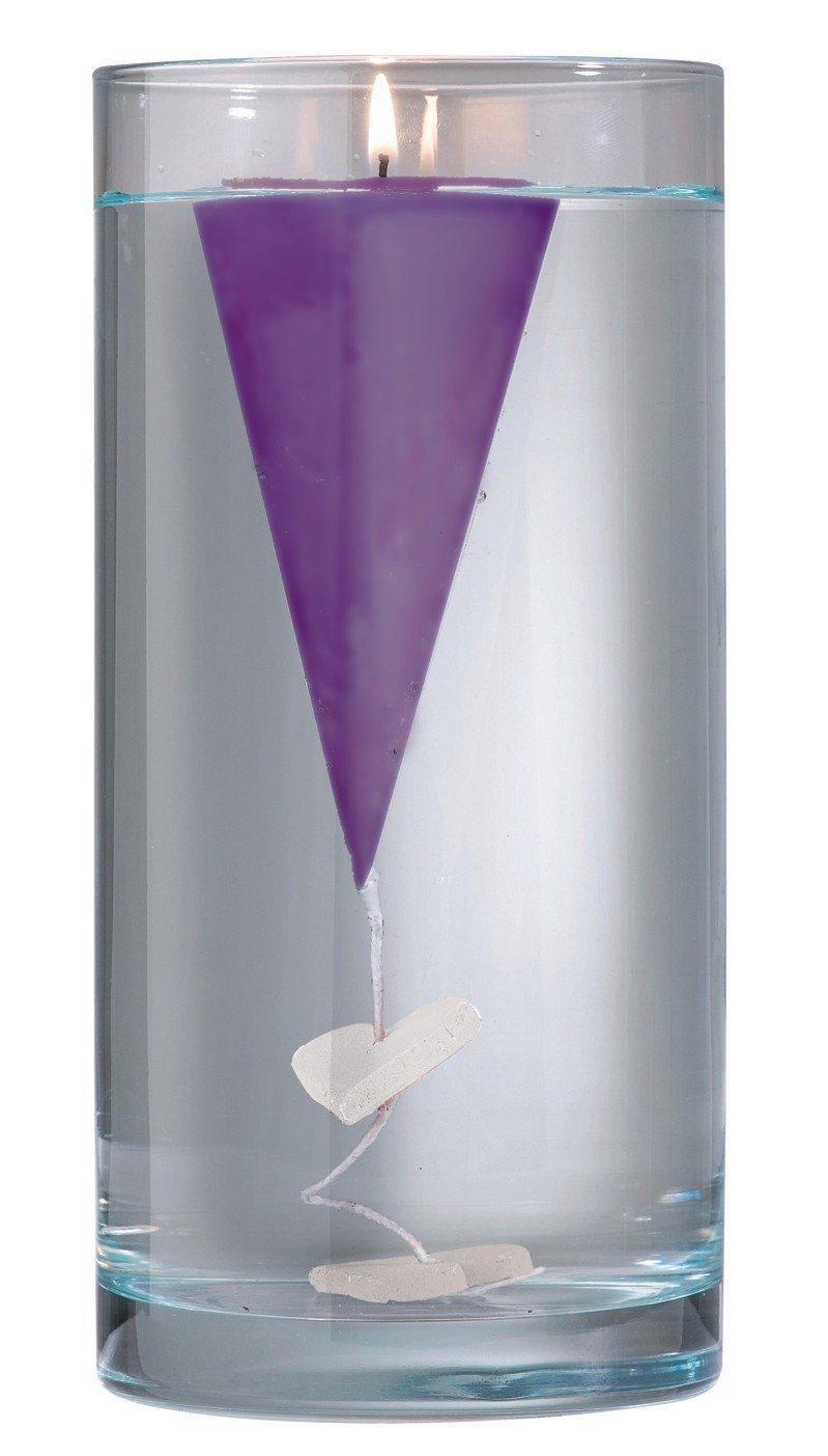 Handgefertige set de 3 bougies flottantes (violet)