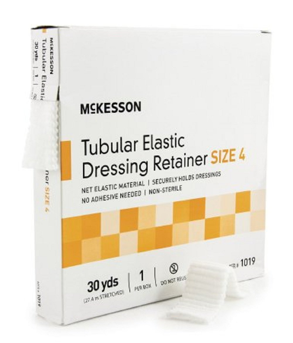 McKesson - Retainer Dressing McKesson Tubular Elastic Dressing Elastic Net 30 Yards Size 5 - 10/Case - McK by McKesson