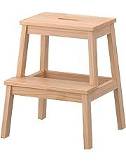 IKEA Tritthocker 'Bekväm' Tritt aus Massivholz mit Grifföffnung