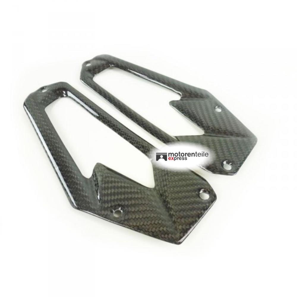 Carbon Fersenschutz Fersenschoner Kawasaki Z800 2013