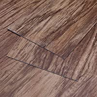 MAYKKE Heirloom Pine 47 Sq Ft Vinyl Plank Flooring 48x6 inch Resembles Hardwood, Or Use for Wood Accent Wall Pack of 24, Easy Install JHA1000102
