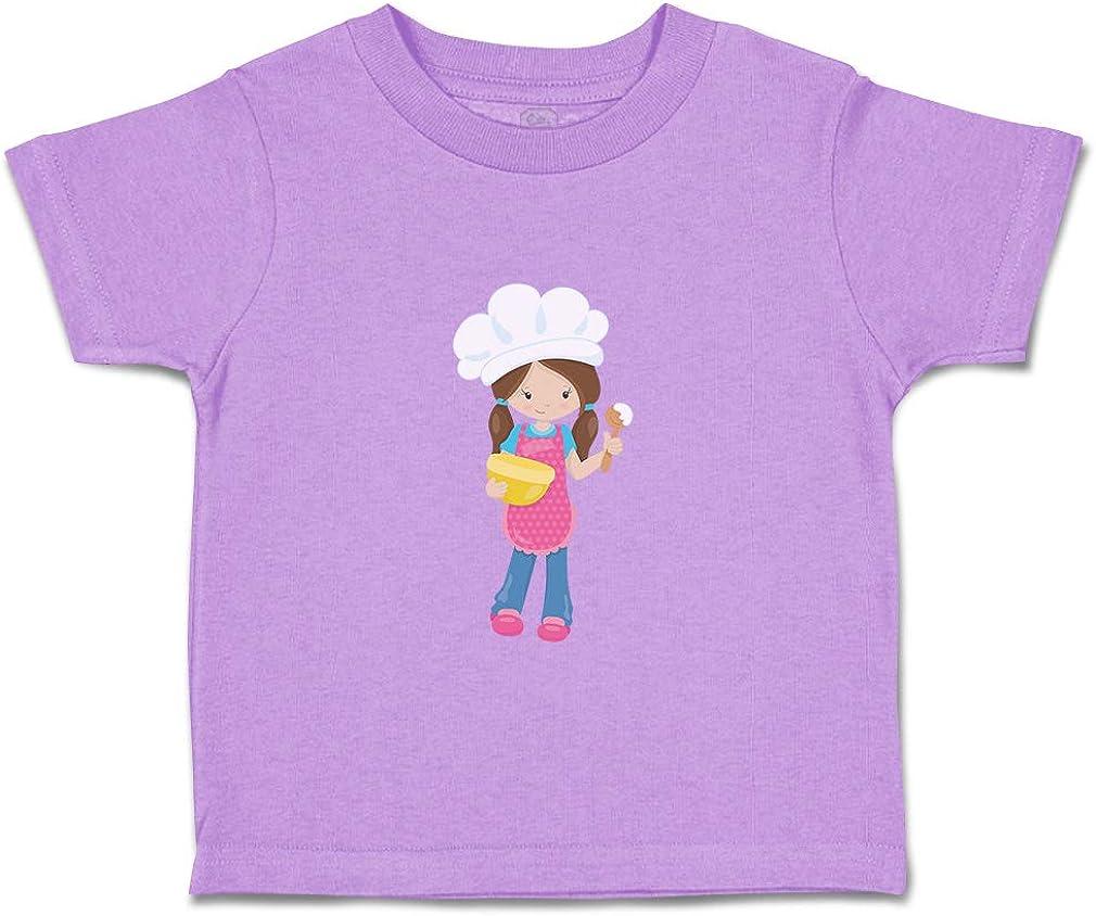 Custom Baby /& Toddler T-Shirt Chef Girl 1 Cotton Boy Girl Clothes