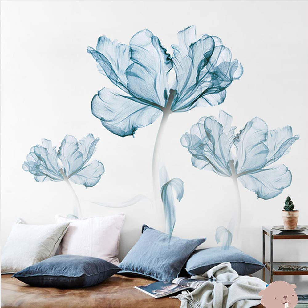 DERUN TRADING Wall Stickers & Murals Home Décor Home Décor Accents for Living Room Flower Wall Decals Home Improvement Paint Wall Treatments Wall Decals Murals Decor Vinyl Removable Mural Paper … by DERUN TRADING (Image #3)