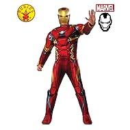 Marvel Civil War Captain America Iron Man Costume Deluxe Adult Mens Superhero