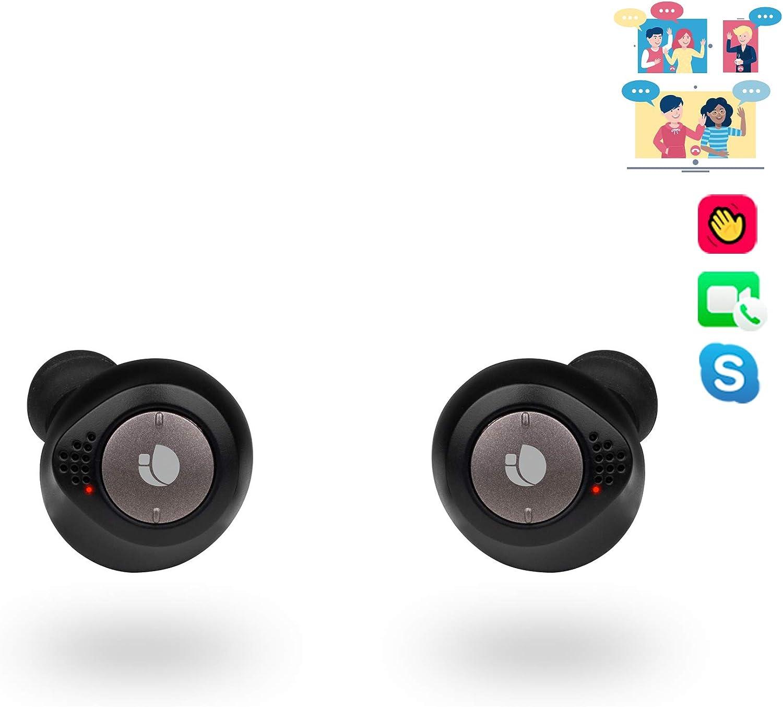 NGS Artica Liberty - Auriculares inalámbricos Compatibles con Tecnología Bluetooth 5.0-True Wireless (Sensor de proximidad, IPX5, Botones de Control). Color Negro