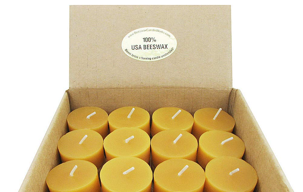 Beeswax Candle Works - 6 Hour Tea Light Refills 60-Pack - 100% USA Beeswax by Beeswax Candle Works, Inc