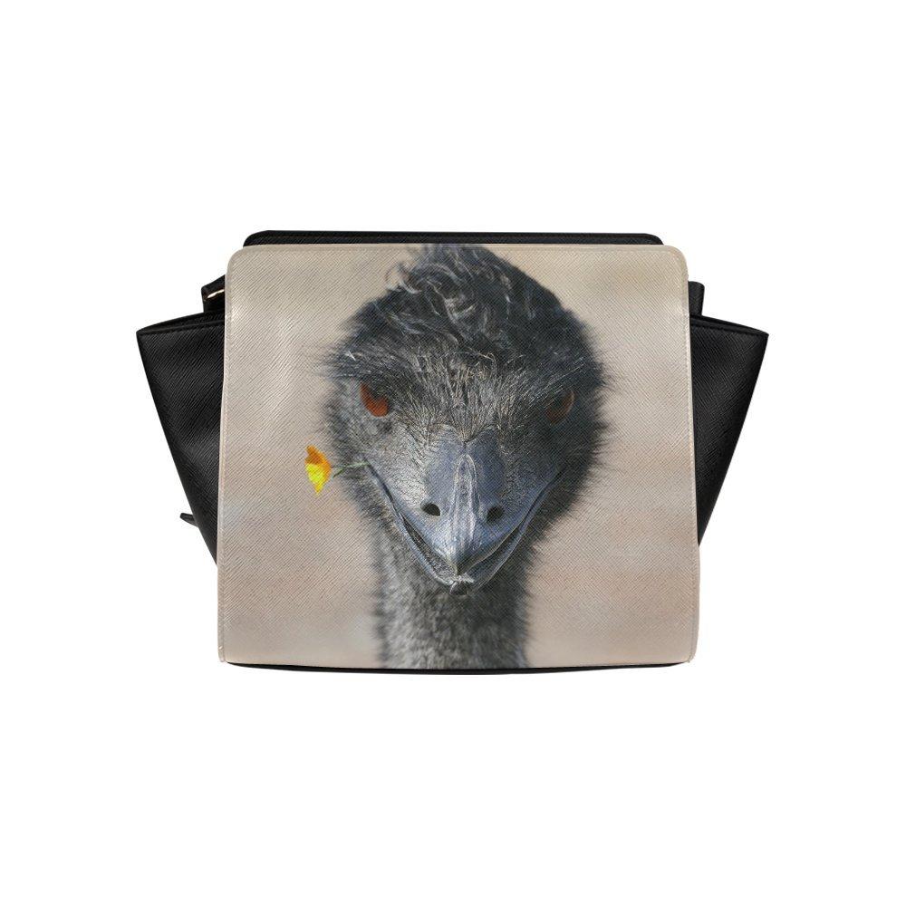 Custom Happy Emu High-grade PU leather Woman Top Zip Satchel Handbag/Shoulder Bag/Tote Bag For Women Girls SP-254