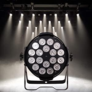 HSL LED Stage Lights LED Par Lights DMX18X15W RGBW for A Church, Home, Floor, Party, Concerts, Weddings, Bands, Clubs, Theaters, Professional Stage Performance