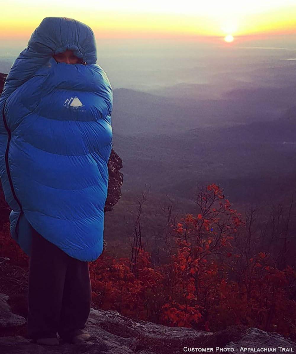 Excursiones y Camping Camping Accesorios para Senderismo Hyke /& Byke Shavano 0/ºC Saco de Dormir de Plum/ón Ultraligero Momia 3 Saco de Dormir Adulto de Menos de 1kg con Base ClusterLoft