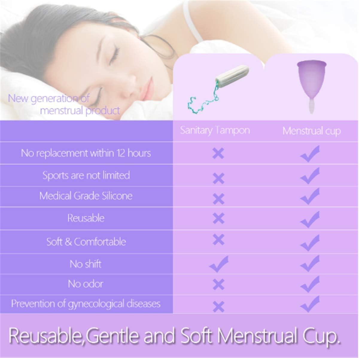 Silicona Calidad Médica Copa Menstrual Conjunto, Higiene ...