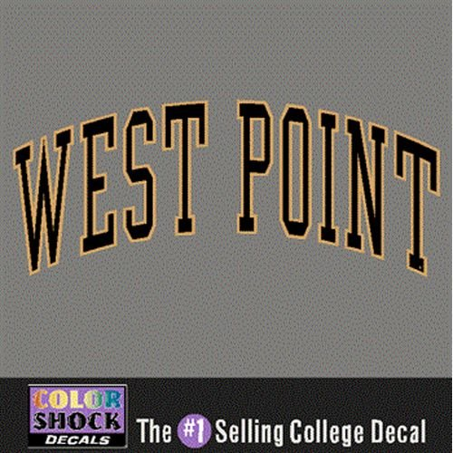 CDI Army Black Knights Decal - Arched West Point