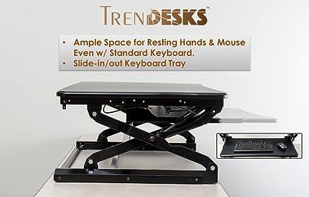 TrenDesks modelo E-1 - Escritorio de pie con altura ajustable ...