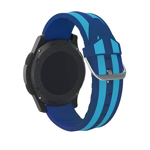 Fmway Repuesto de Correa Reloj 22mm de Silicona para Samsung Galaxy Watch 46mm / Gear S3