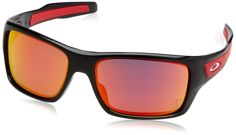 234b8b8ac6 Oakley Turbine Scuderia Ferrari Polished Black - Sunglasses - OO9263-3963   Amazon.com.au  Fashion