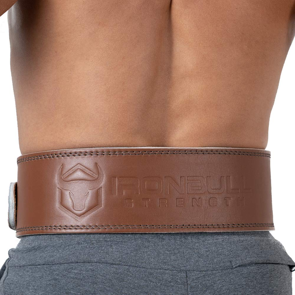 Advanced Weight Lifting Belt Lower Back Support for Weightlifting and Heavy Power Workout 4-inch Wide 10mm Single Prong Iron Bull Strength Premium Genuine Leather Powerlifting Belt