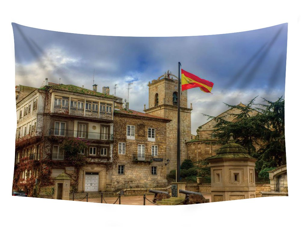 Amazon.com: PUPBEAMO PRINTS Lovely Square In La Coruna Spain ...