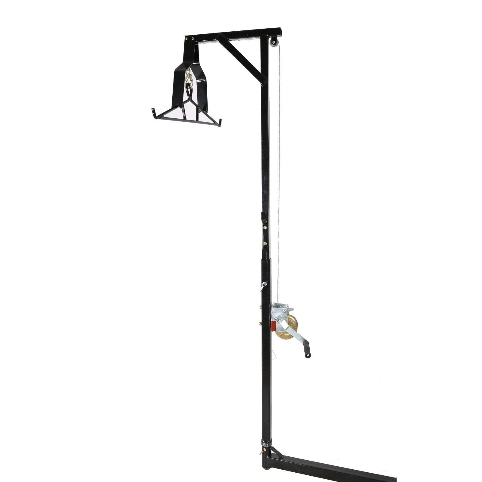 TimmyHouse Big Game Hunting Deer Hoist 500lb W/Winch Lift Swivel Gambrel Hitch-Mounted New