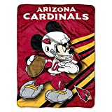 NFL Arizona Cardinals Mickey Mouse Ultra Plush Micro Super Soft Raschel Throw Blanket