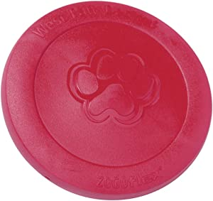 West Paw Zogoflex Zisc Dog Frisbee, High Flying Aerodynamic Disc for Dogs Puppy – Lightweight, Floatable Dog Frisbees for Fetch, Tug of War, Catch, Play – Doubles as Food/Water Bowl, Made in USA