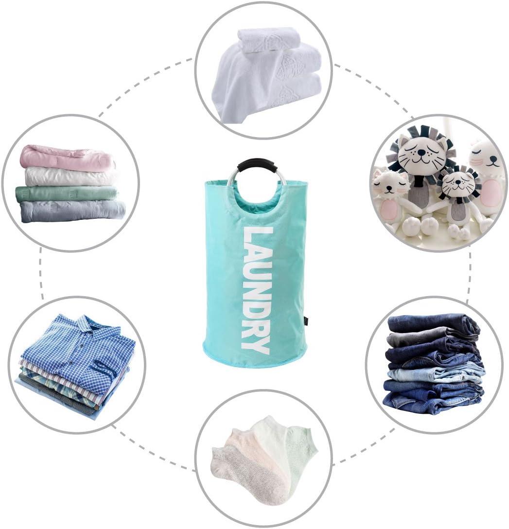 Luz Azul DOKEHOM 115L Bolsas Cestos para la Colada con Bolso de la Moneda Plegable Bolsa de Lavado de Ropa Bin Gran Servicio de lavander/ía 6 Colores