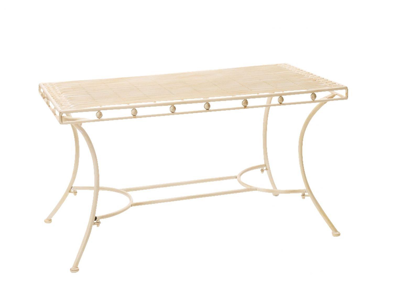 Nostalgie Gartentisch cremeweiß Eisen antik Tisch Loungetisch antik Eisen Stil garden table 12f0d6