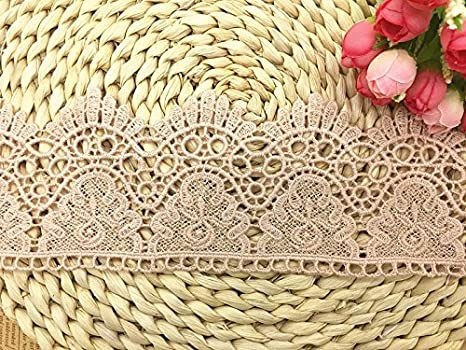 Gray 9CM Width Europe Crown Pattern Inelastic Embroidery Lace Trim,Curtain Tablecloth Slipcover Bridal DIY Clothing//Accessories. 4 Yards in one Package