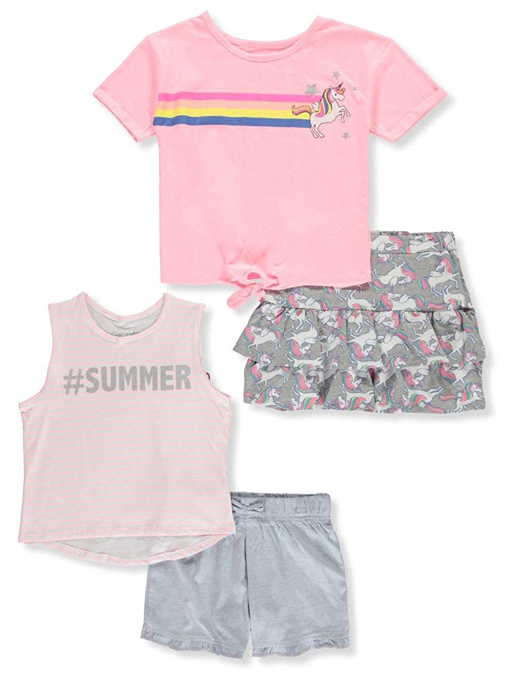 Freestyle Revolution Girls 4-Piece Mix-and-Match Shorts Set Outfit