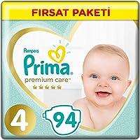 Prima Bebek Bezi Premium Care 4 Beden Maxi Fırsat Paketi, 94 Adet