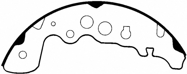 Wagner ThermoQuiet PAB671 Brake Shoe Set Rear