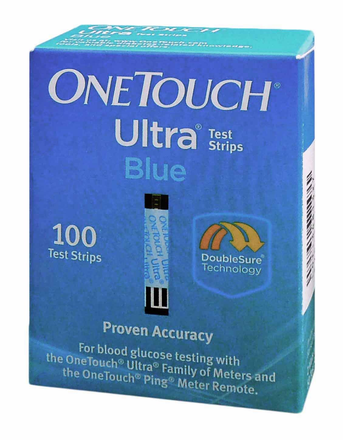 One Touch Ultra Test Strip Blue 100 ct by One Touch Ultra Blue 100 Test Strips