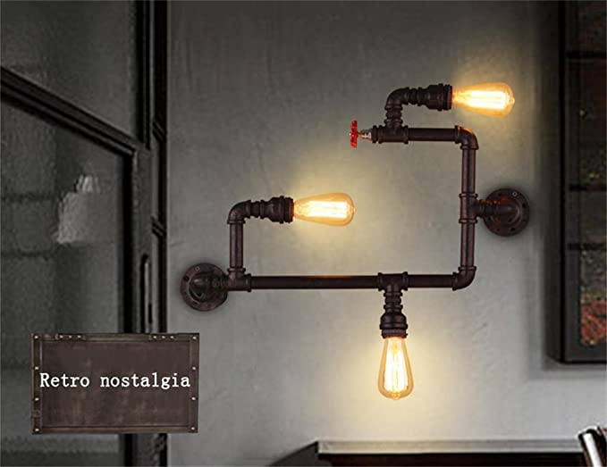 Illuminazione romantica loft industriale americane opere darte