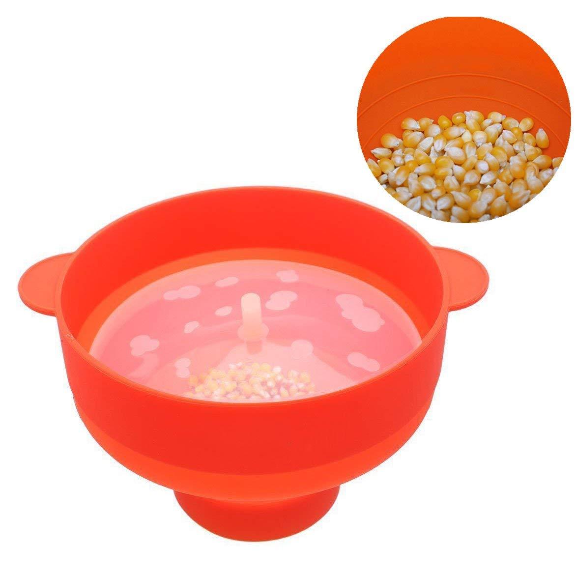 Gearmax® Plegable Bowl con Tapa,Recipiente para cocinar Palomitas en microondas,fácil y Fresco Prepara,con Tapa y Asas cómodas y Resistentes