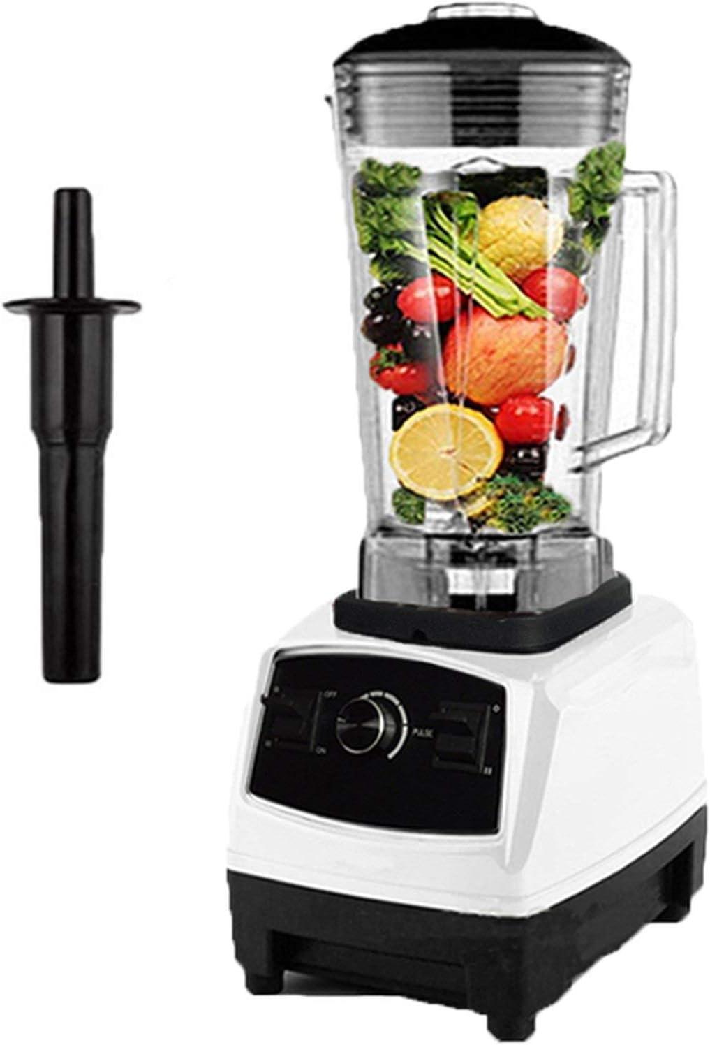 BPA free 2200W Heavy Duty Commercial Professional Mixer Food Processor Japan Blade Juicer Ice Smoothie Machine,White,EU Plug