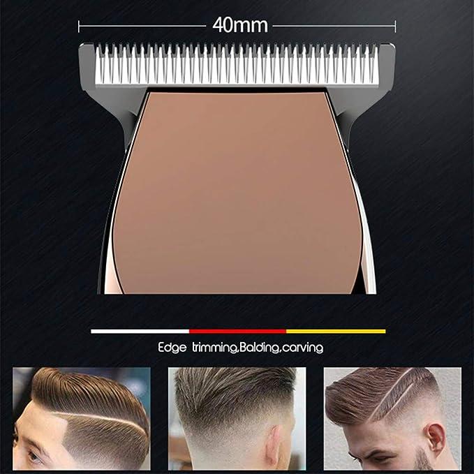 Cortapelos Hair Clipper recargable eléctrico cortapelos para barba ...