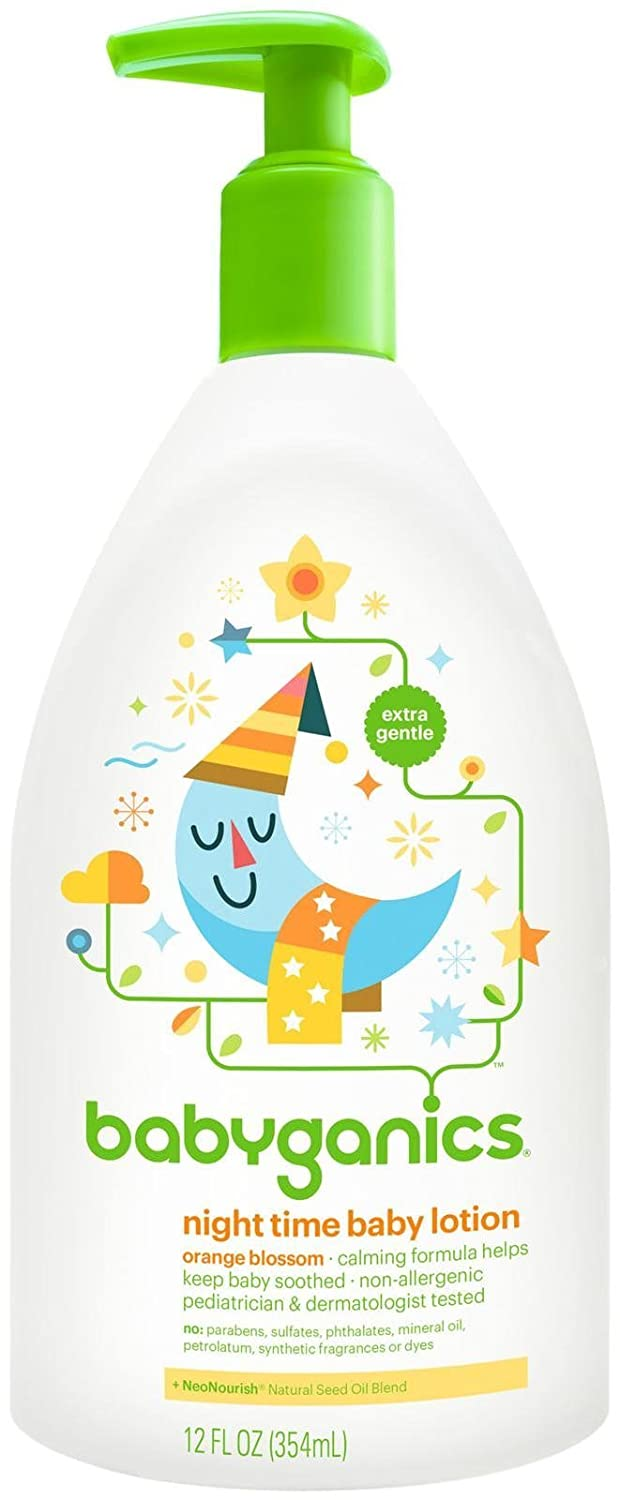 BabyGanics Smooth Moves Night Time Baby Lotion - Natural Orange Blossom-12oz 01372
