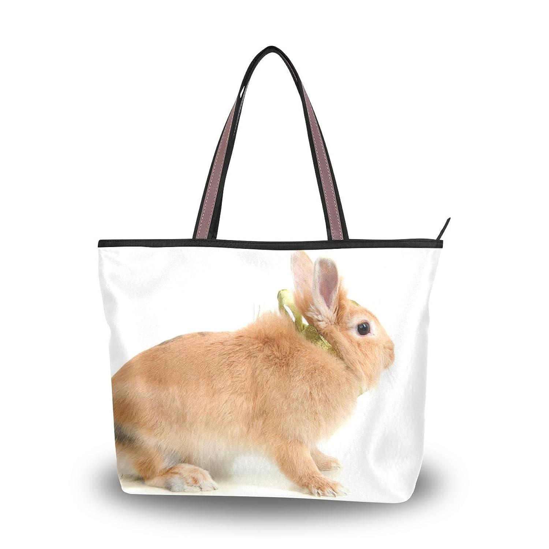 Senya Women's Handbag Microfiber Large Tote Shoulder Bag, Cute Rabbit