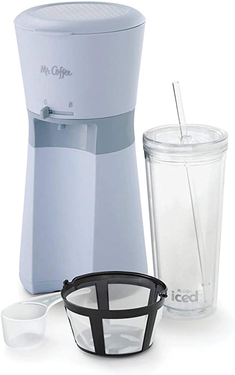 Coffee Iced Coffee Maker with Reusable Tumbler and Coffee Filter Lavender Mr
