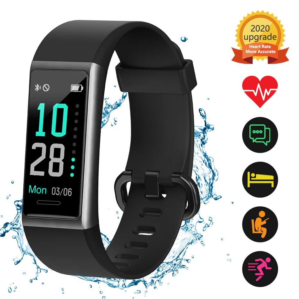 Orologio Fitness Tracker di Alta qualit/à monitoraggio del Sonno Impermeabile IP68 contapassi contacalorie con cardiofrequenzimetro KUNGIX