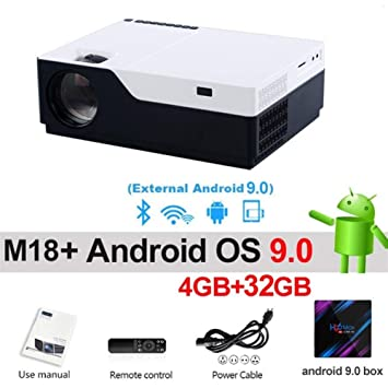 HD 1920x1080P Android 9.0 WiFi Soporte AC3 4K 200 Pulgadas ...