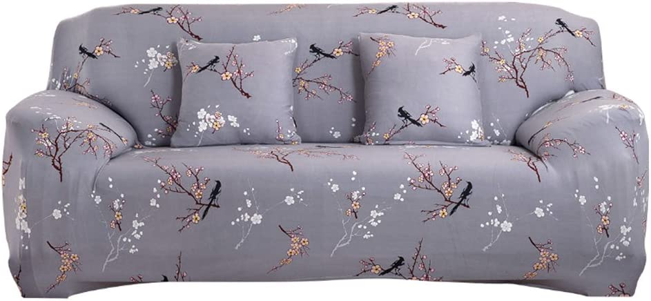 Funda elástica para sofá de 1 2 3 4 plazas, cubierta antideslizante en tejido elástico extensible, protector de sofá, Grey Pattern, 3 Seater